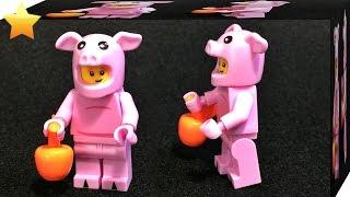 getlinkyoutube.com-LELE 피기가이 돼지 농부 알바시리즈 레고 짝퉁 미니피규어 조립 리뷰 Lego 71007 series 12 minifigures piggy guy