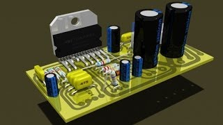 Сборка интегрального усилителя мощности на микросхема TDA7293 своими руками