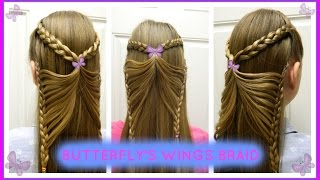 getlinkyoutube.com-Butterfly's Wings Braid / Trenza Alas de Mariposa / Bonita Hair Do