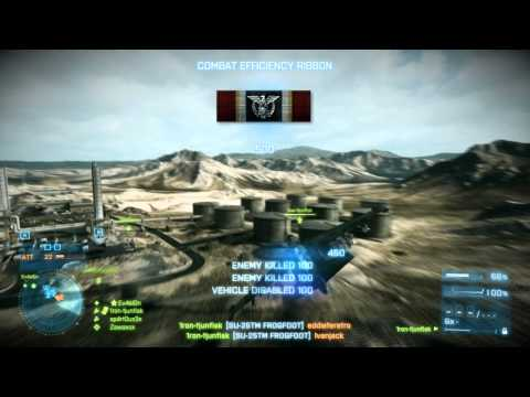 Battlefield 3 Jet Gameplay | 26-0 | Rush | Operation Firestorm | 1ron-tjunfisk