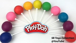 getlinkyoutube.com-Fun Learning Colors and Numbers with Play Doh Lollipops Video for Kids