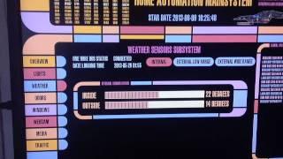 Home automation with Raspberry PI - Star Trek LCARS GUI