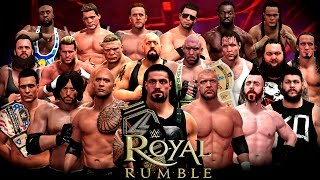 getlinkyoutube.com-WWE Royal Rumble 2016 - 30 Man Royal Rumble Match - WWE 2K16 Royal Rumble