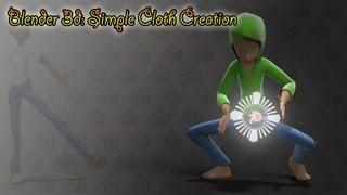 getlinkyoutube.com-Blender 3d: Simple Clothes Tutorial (Round 1)