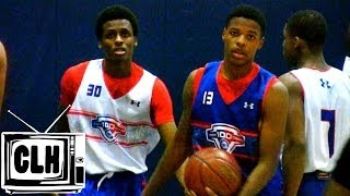 getlinkyoutube.com-Dennis Smith Jr vs Antonio Blakeney at NBPA Top 100 Camp
