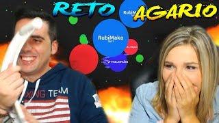 getlinkyoutube.com-RETO AGARIO CON MI NOVIA | TU AL TECLADO Y YO AL RATÓN!! | Rubinho vlc | Agar.io Challenge