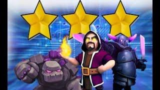 getlinkyoutube.com-3 estrellas con ataque mega | Clash of clans |