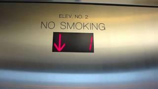 getlinkyoutube.com-Fast Kone Monospace Glass Traction Elevators at Monk St. Garage, Columbia, MO (Bank 1)