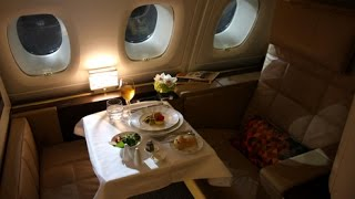 getlinkyoutube.com-Etihad First Class (Apartments) - Abu Dhabi to London Heathrow (EY 19) - Airbus A380-800
