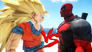 getlinkyoutube.com-DEADPOOL VS GOKU - EPIC BATTLE