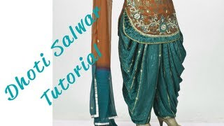 getlinkyoutube.com-♥ How to make a Dhoti Salwar ♥