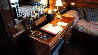"""getlinkyoutube.com-My Cabin at """"The Royal Scotsman"""" Luxury Train by Orient-Express"""