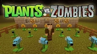 getlinkyoutube.com-PLANTAS VS ZOMBIES! Minecraft Mod