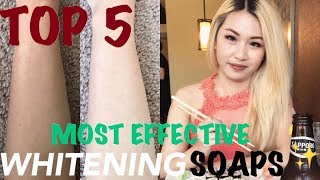 MY TOP 5 MOST EFFECTIVE WHITENING SOAPS + MINI REVIEWS | PAANO PUMUTI (PART 2)