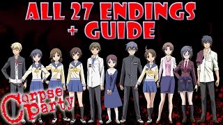 getlinkyoutube.com-Corpse Party ALL 27 Endings + Guide (All Chapter Endings)