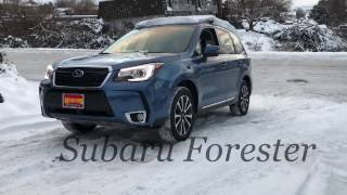 getlinkyoutube.com-2017 Subaru Forester Vs. Competition on the Snow Hill Test