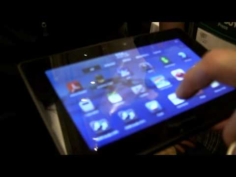 Blackberry Playbook Walk through at CES 2011