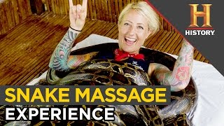 Exotic Snake Massage at Cebu City Zoo, Philippines | Ride N' Seek Philippines S4
