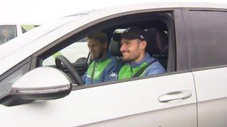 getlinkyoutube.com-Fußballer beim Fahrtraining - VfL Wolfsburg (2015)