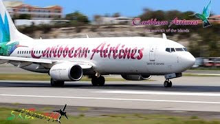 getlinkyoutube.com-Caribbean Airlines 737-800 pushback and departure from St. Maarten