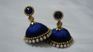 Making Silk thread Earrings   Jimikki Kammal   Handi Crafts Earrings