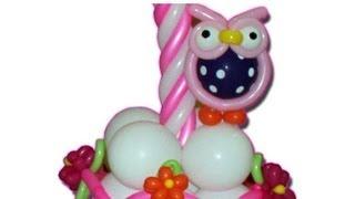 getlinkyoutube.com-Curso de globos, como hacer un buho en globos, animales en globos
