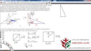 Matemática enem - Questão - Devido aos fortes ventos width=