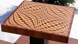 "getlinkyoutube.com-Making a ""Wave"" 3D end grain cutting board"