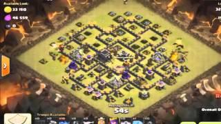 getlinkyoutube.com-Clash Of Clans - War Base TH9 Update [ Anti 3 Star] + Replays