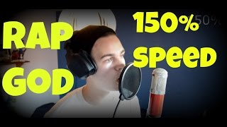 "getlinkyoutube.com-""Rap God"" Fast Rap - Trying 150% Speed ""cover"""