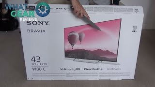 getlinkyoutube.com-Sony Bravia W80c Unboxed!