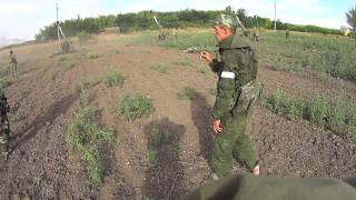 getlinkyoutube.com-Русские добровольцы, работа по Хрящеватому (а дальше Новосветловка и аэропорт)