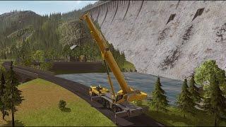 getlinkyoutube.com-Construction Simulator 2015 - Liebherr LTM 1300 6.2 DLC