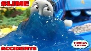 """Thomas and friends """"Slime Accidents"""" トーマス プラレール ガチャガチャ ベタベタスライム"""