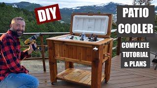 getlinkyoutube.com-How to Make a Patio Cooler Ice Chest