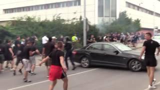 getlinkyoutube.com-Hooligans: Žilina (Slovakia) vs. Olimpija Ljubljana (Slovenia) 20.07.2016