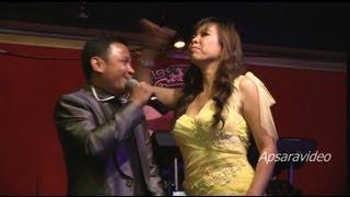 "getlinkyoutube.com-Part 2- Khat Chomroeun is performing a drunkard comedy skit for a  Cha Cha Cha ""Srah - Alcohol"""