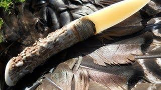 getlinkyoutube.com-Making a Primitive ELK BONE KNIFE