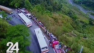 24 Oras: Lalim ng bangin na kinahulugan ng bus, kita sa drone video