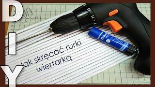 getlinkyoutube.com-JAK SKRĘCAĆ RURKI WIERTARKĄ | wiklina papierowa | πώς να φτιάξετε χάρτινα καλαμάκια με τρυπάνι