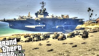 getlinkyoutube.com-War is Near! - GTA 5 PC (Epic Beach Army Invasion)