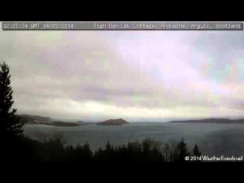 14 March 2014 - Tigh Ban Lek Cottage WeatherCam Timelapse