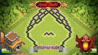 getlinkyoutube.com-Clash Of Clans - Epic Th8 Southern Teaser Trophy Base! + Defence Replays!
