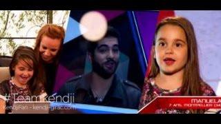 Kendji Girac - message pour Manuela Diaz sur the voice kids 3