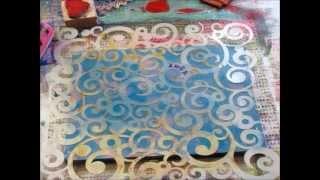 getlinkyoutube.com-Fabric Printing with the Gelli Plate