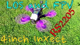 getlinkyoutube.com-4inch InXect LOS and FPV Maiden: RS2205 2600kv Reds + DAL T4045BN Tri