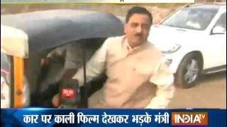 getlinkyoutube.com-Transport Minister Scolds DCP Traffic for Using Car with Tinted Glass - India TV