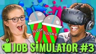 JOB SIMULATOR: STORE CLERK (HTC VIVE VR) (Teens React: Gaming)
