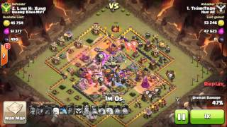 getlinkyoutube.com-Clan wars 3 stars town hall10 with lightning spell