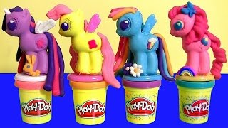 getlinkyoutube.com-New Play Doh My Little Pony Make 'N Style Ponies Twilight Sparkle, Rainbow Dash, Pinkie Pie MLP 2015